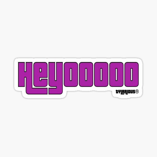 HEYOOOOO Purple Sticker