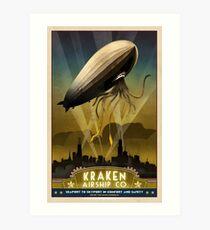 Steampunk Airship: Admiral Rosendahl Art Print
