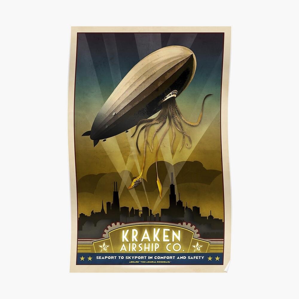 Steampunk-Luftschiff: Admiral Rosendahl Poster