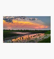 LG G5 Supercell Farm Sunset Photographic Print