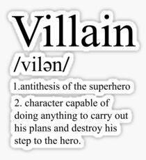 villain definition Sticker