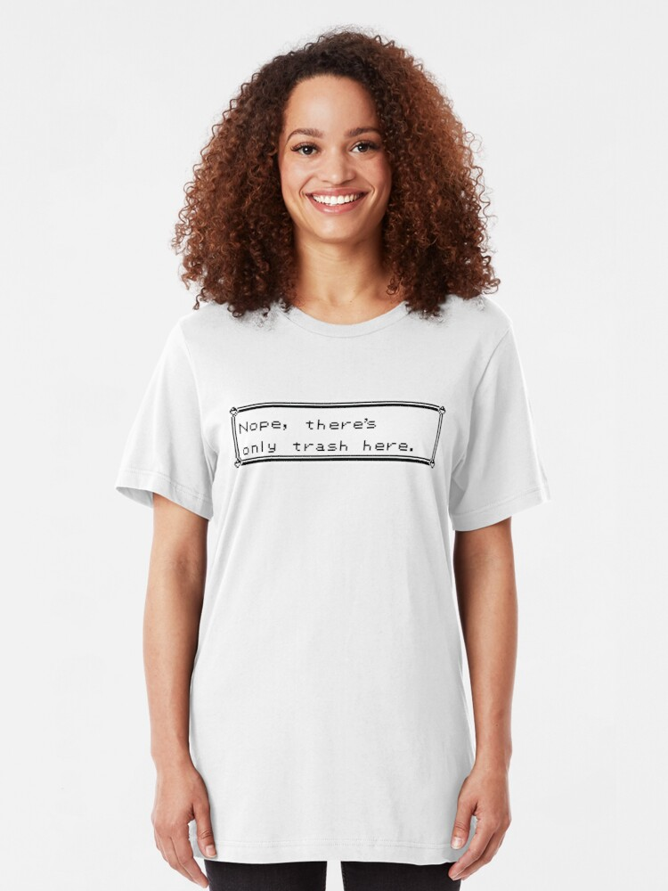 Alternate view of Only Trash Here Slim Fit T-Shirt