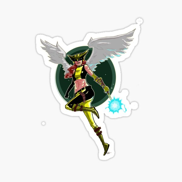 Hawk Girl Sticker