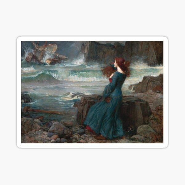 Miranda The Tempest by John William Waterhouse, 1916 Sticker