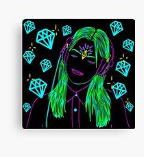 Diamond Music Canvas Print