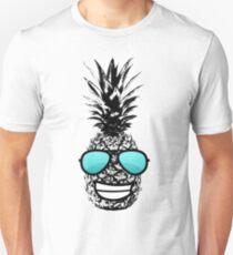 Cool Sun-glass wearing Black & White Pineapple T-Shirt
