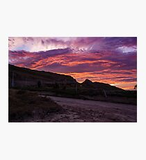Sunset in the Andes Photographic Print