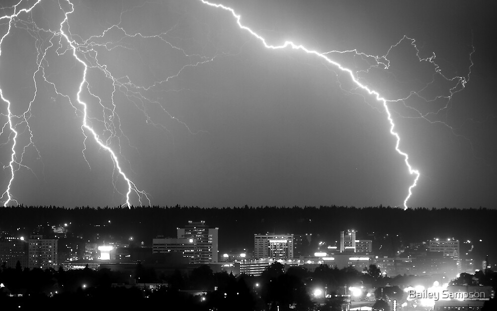 Spokane Electric Skies by Bailey Sampson