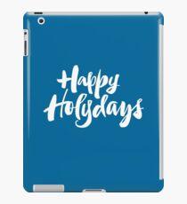 Modern Happy Holydays Holy Days Religious Holidays Hand Lettering - Blue iPad Case/Skin