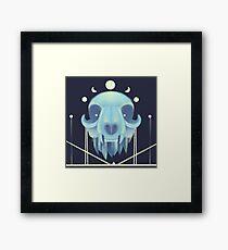 Reverse Crystal Crown Framed Print