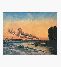 Sunset in Ivry 1869 Armand Guillaumin Photographic Print