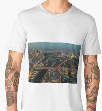 Melbourne, Australia at night from Eureka SkyDeck 88 Men's Premium T-Shirt