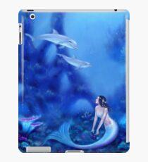 Ultramarin Meerjungfrau & Delfine iPad-Hülle & Skin