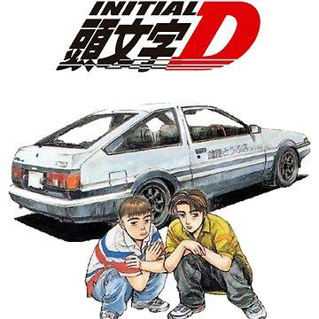 Initial D Takumi and Itsuki by BatFreakingMan