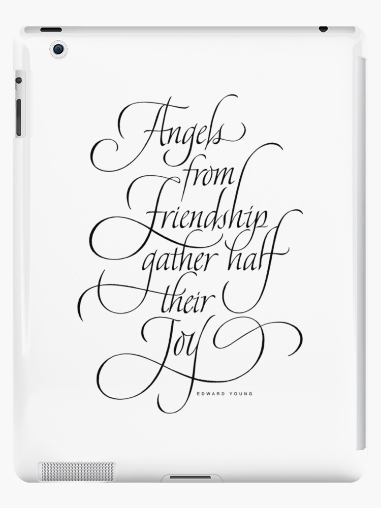 Christmas Calligraphy.Angels Friendship Elegant Classic Calligraphy Quote Christmas Lettering Ipad Case Skin By 26 Characters