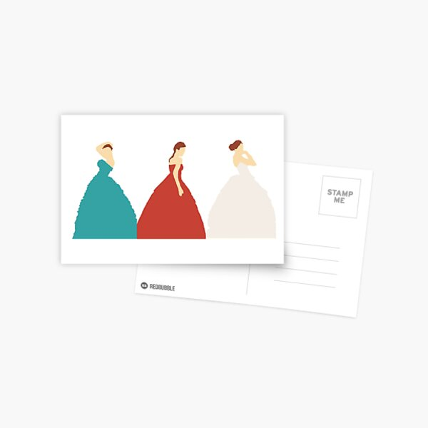 The Selection Trilogy Silhouettes Postcard