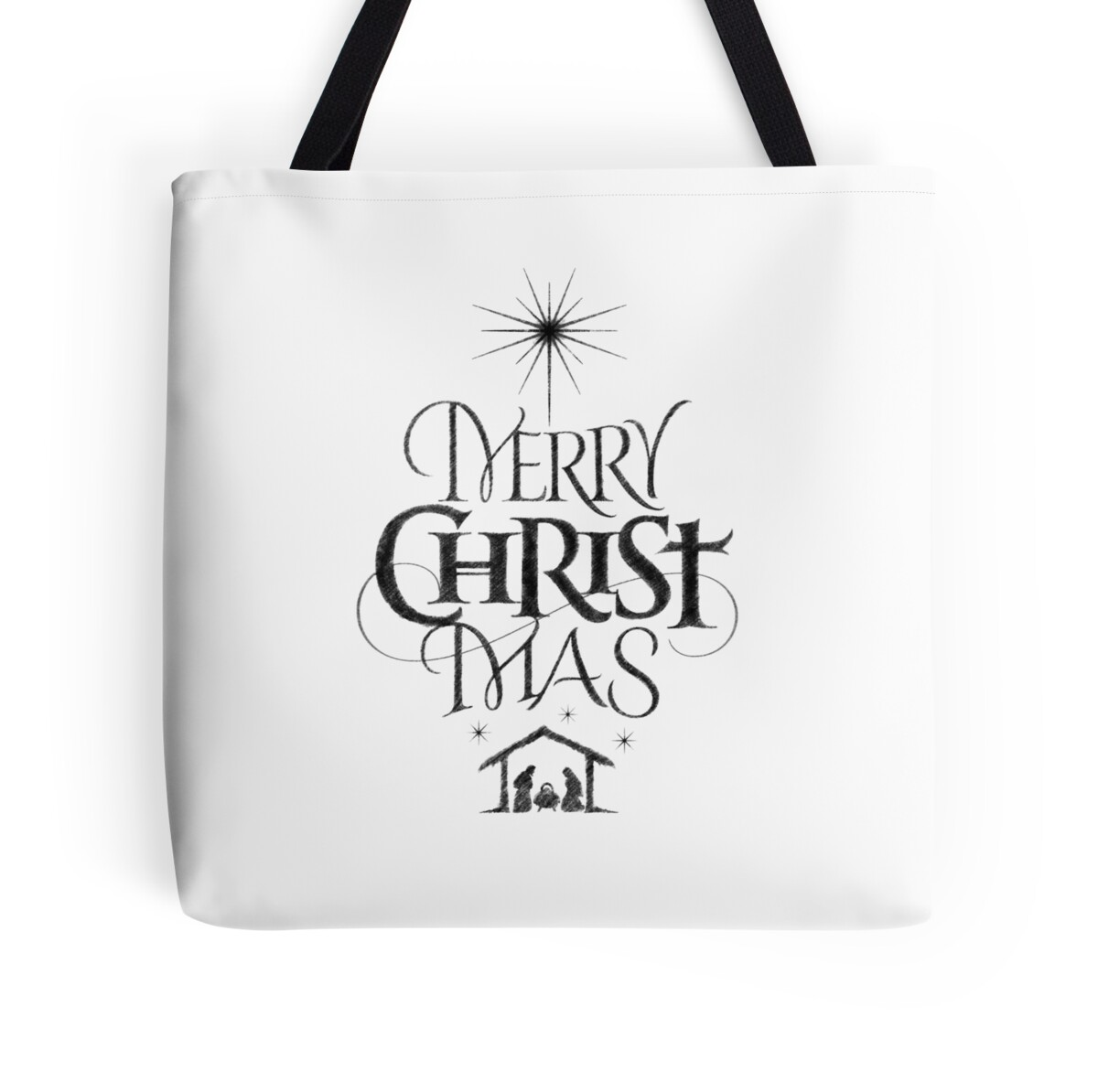 "Religious Flat Acrylic: ""Religious Christian Calligraphy Merry Christmas Christ"