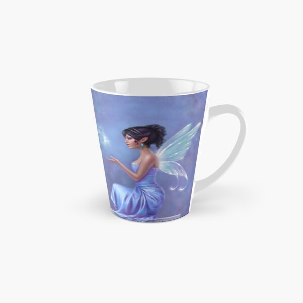 Opalite Fairy with Glowing Butterfly Tall Mug