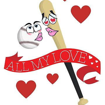 Baseball Bat and Ball in love by Hgomez84