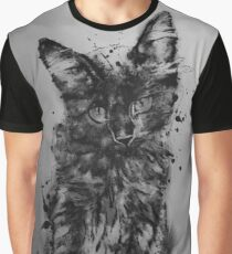 Cat and Ink Graphic T-Shirt