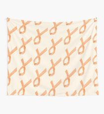 Geometric Womb Cancer Ribbon Wall Tapestry