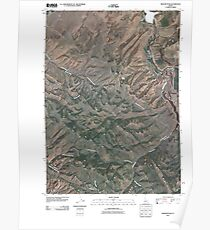 USGS TOPO Map Idaho ID Higham Peak 20100929 TM Poster