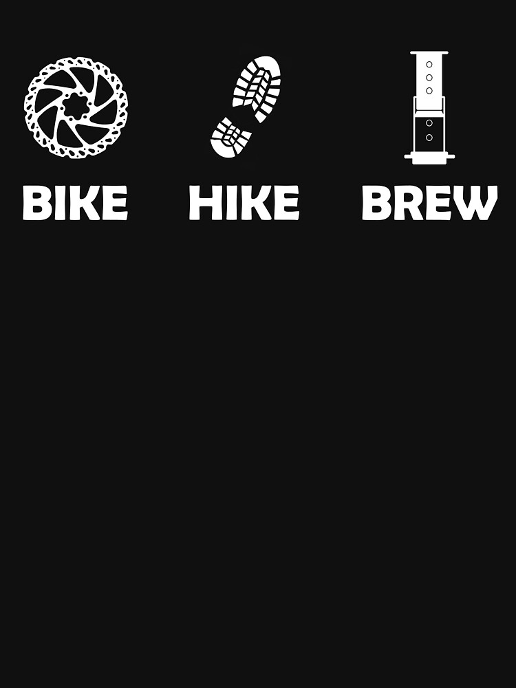 White Logo on Dark Background by bikehikebrew