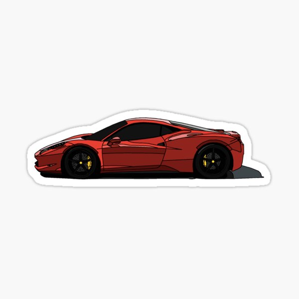 Ferrari 488 GTB Supercar Pegatina