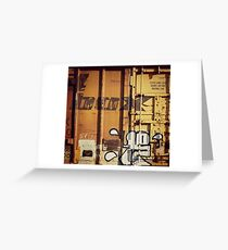 Abandoned Boxcar Greeting Card