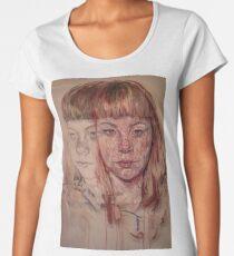 Oil, pencil and art paper on acrylic sheet. Women's Premium T-Shirt