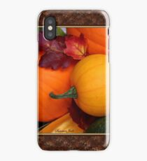 Pumpkins, Gourds and Maple Leaves iPhone Case