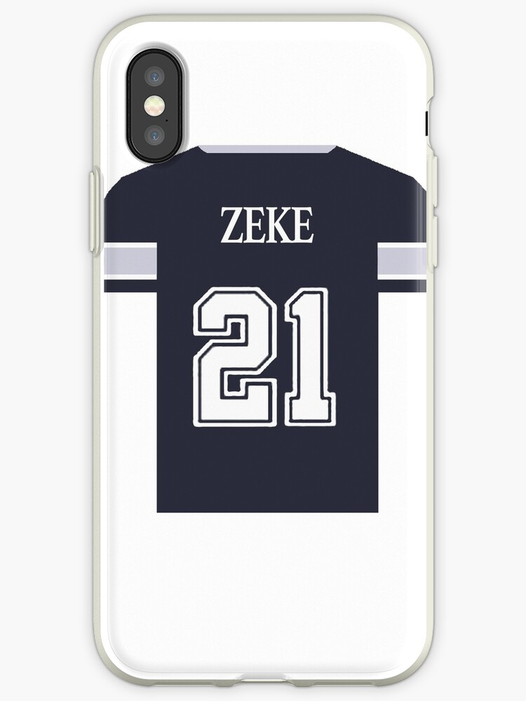 huge discount 950b6 768f1 'Ezekiel Elliot Blue Jersey' iPhone Case by Tate Breeland