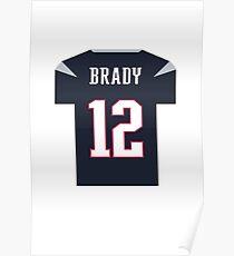 Tom Brady Jersey Poster
