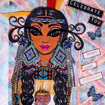 Celebrate You - First Nations (White) by susanchristophe