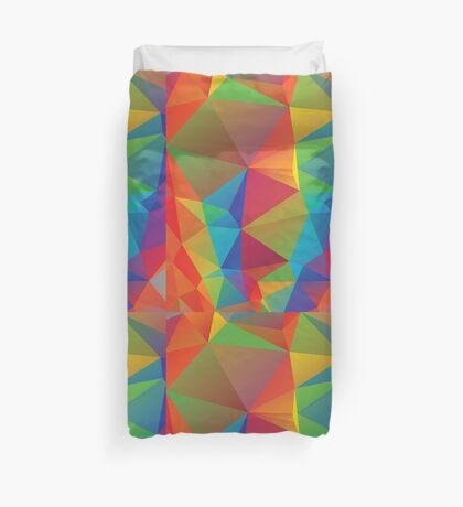 Regenbogen färbt polygonalen Hintergrund 3 Bettbezug