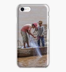 Fishing from the Mekong 2 iPhone Case/Skin