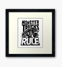MONSTER TRUCKS RULE Framed Print