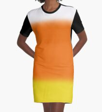 Candy Corn Ombre Graphic T-Shirt Dress