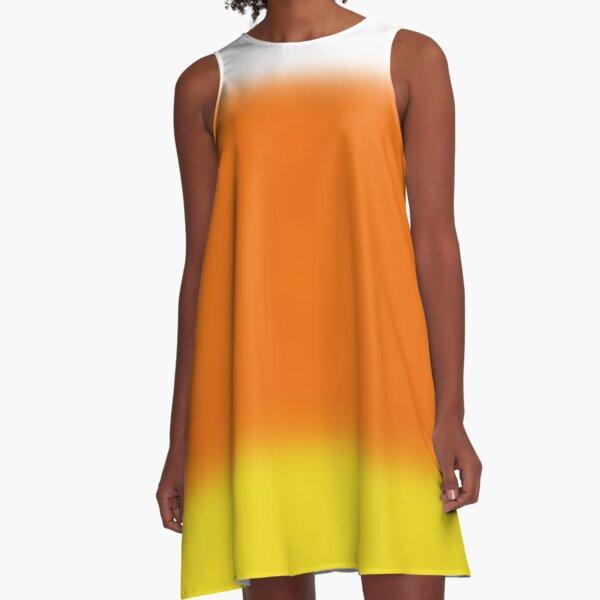 Candy Corn Ombre A-Line Dress