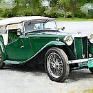1949 MG TC Roadster watercolour by PhotosByHealy