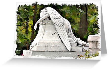 Weeping Angel watercolour by PhotosByHealy