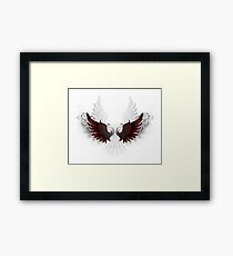 Stylized patterned black wings Framed Print