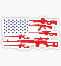 American Flag Patriotic Usa Pride Gun A Pro Gun  Sticker
