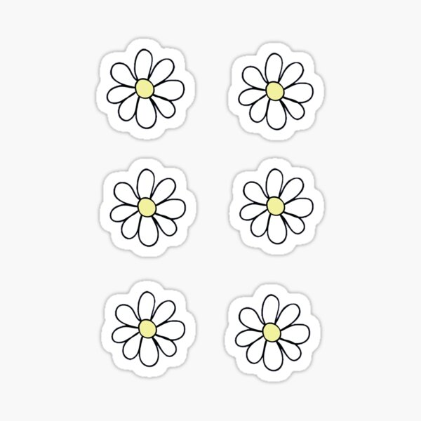 Six Daisies Sticker