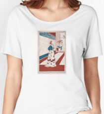 Lady holding flowers for gigantic butterflies 059 Women's Relaxed Fit T-Shirt