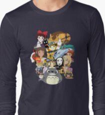 Studio Ghibli Collage Long Sleeve T-Shirt