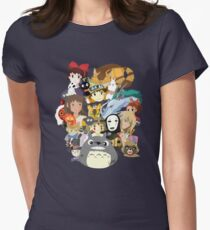 Studio Ghibli Collage Women's Fitted T-Shirt