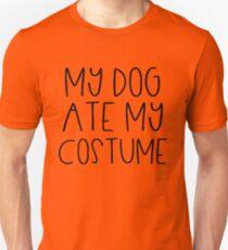 My Dog Ate My Costume Funny Lazy Halloween Gag Joke T-Shirt