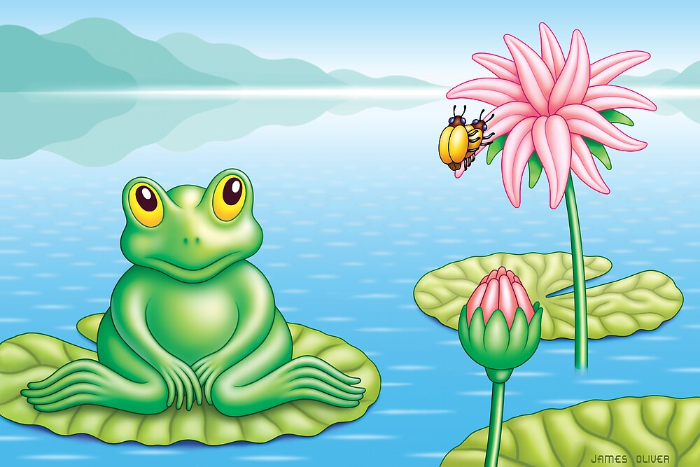 FROG  AND  BUGS by James Oliver
