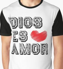 Dios Es Amor - God is Love - Christian Spanish  Graphic T-Shirt